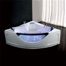 Reno Freestanding Corner Whirlpool Massage Bathtub
