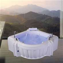 Sierra Waterfall Whirlpool Massage Corner Bathtub