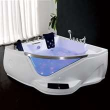 Atlanta Two Person Acrylic Massage Corner Bathtub