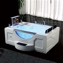 Milan Two Person Acrylic Indoor Massage Bathtub
