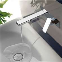 Viola Wall Mount Chrome Finish Bathroom Sink Faucet