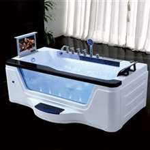 Texas Side Tempered Glass Massage Acrylic Bathtub