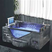 Milan Two Person Combo Massage Acrylic Bathtub with LCD TV