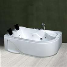 Napoli Combo Massage Indoor White Acrylic Bathtub