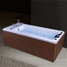 Texas One Person Jetted Combo Massage Acrylic Bathtub