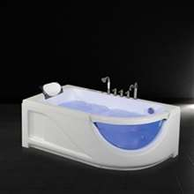 Rio One Person Combo Massage Soaking Corner Bathtub