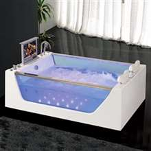Atlanta Rectangular Whirlpool Spa Massage Bathtub with LCD TV