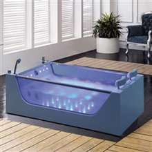 Peru Two Person Acrylic Indoor Whirlpool Massage Bathtub
