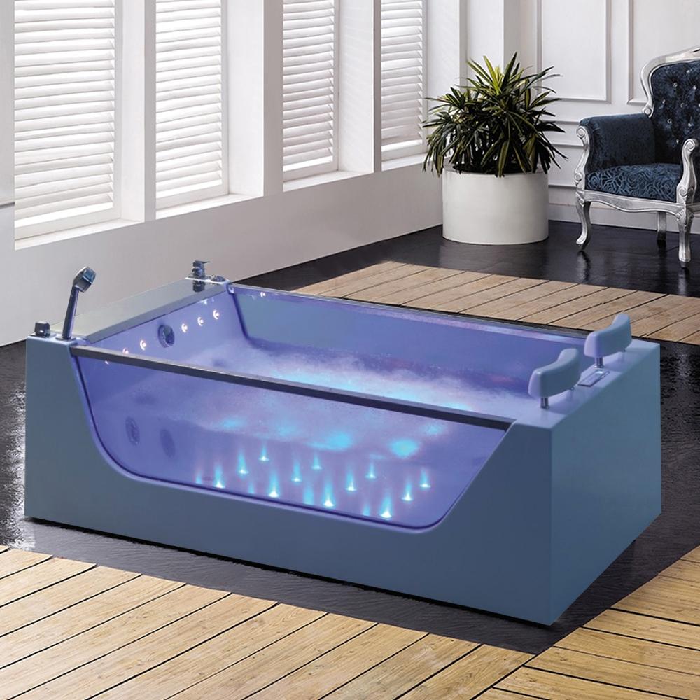 Shop Fontana Peru Two Person Acrylic Indoor Whirlpool Massage Bathtub At Fontanashowers Com