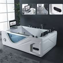 Milan High Quality Whirlpool Massage White Bathtub