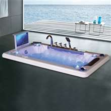 Napoli One Person Drop-In Combo Massage Bathtub with LCD TV