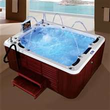 Lima Four Person Outdoor Whirlpool Hot Massage Bathtub