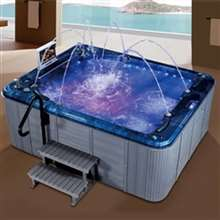 Chicago Four Person Whirlpool Combo Hot Spa Massage Bathtub