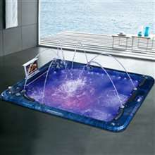 Texas Four Person Drop-In Whirlpool Combo Massage Bathtub