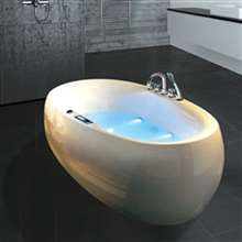 Reno Indoor Freestanding Whirlpool Massage Bathtub