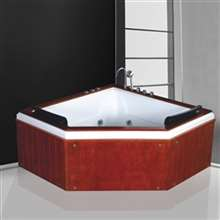 Napoli Vintage Style Indoor Combo Massage Acrylic Bathtub