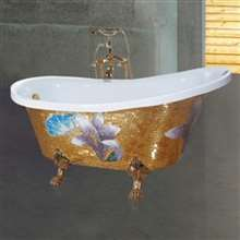Reno Gold Clawfoot Freestanding Indoor Soaking Bathtub