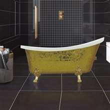 Verona Small Indoor Soaking Mosaic Clawfoot Acrylic Bathtub