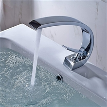 Geneva Chrome Finish Waterfall Bathroom Sink Faucet
