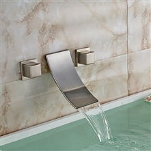 Brushed Retro Bathroom Waterfall Bathtub Faucet