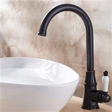 Fontana Long Neck Dark Oil Rubbed Bronze Single Handle Deck Mount Sink Faucet Mixer Faucet