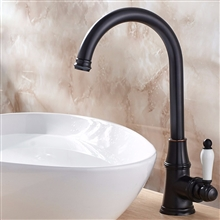 Dark Oil Rubbed Bronze Deck Mounted Basin Faucet Mixer Tap