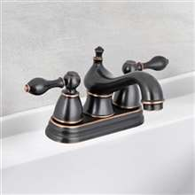 "Contemporary Bathroom Vanity Sink 4"" Centerset Lavatory Faucet  Oil Rubbed Bronze"