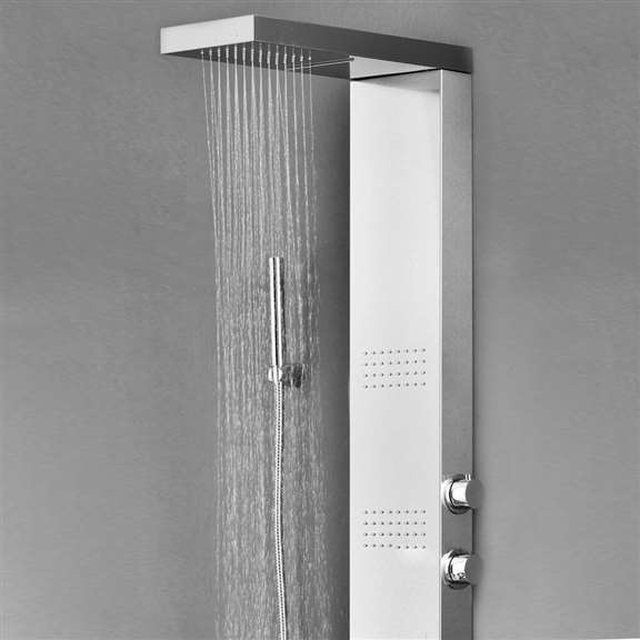 Rainfall Shower Panel with Hand Held Shower Head
