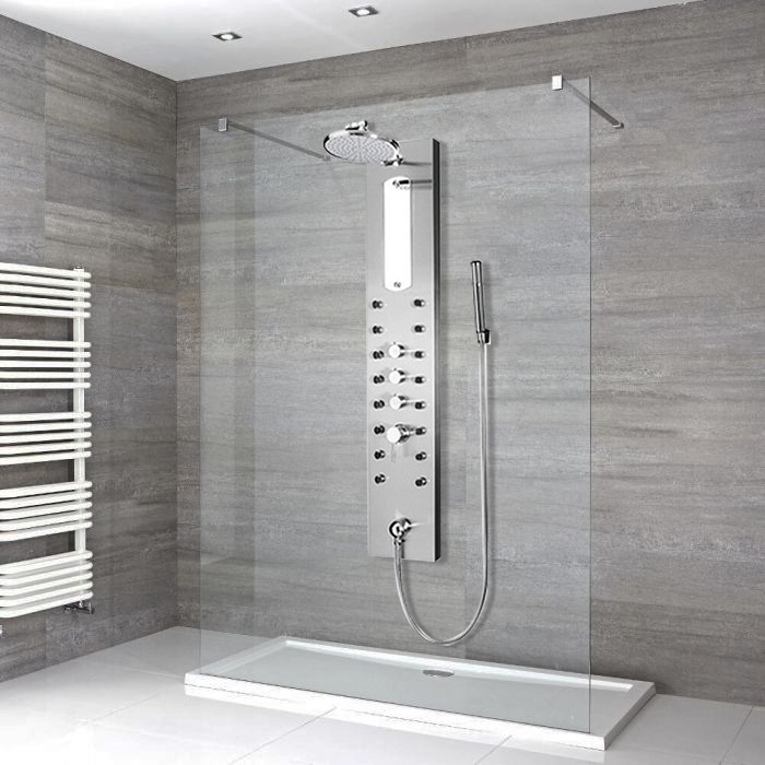 48 Sale Fontana Reno Stainless Steel Shower Panel Rain Style Massage Jets System With Handheld Shower At Sale Now