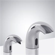 Fontana Chrome Finish Dual Automatic Commercial Sensor Faucet And Automatic Soap Dispenser
