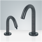 Fontana Rio Goose Neck Dark Oil Rubbed Bronze Finish Dual Automatic Commercial Sensor Faucet And Soap Dispenser
