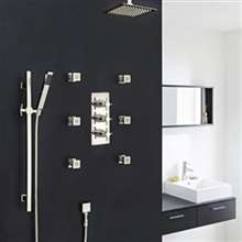 Fontana Reno Ceiling Mount Shower Head Set with 6 Body Massage Shower Jets