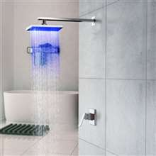 Fontana Wall Mounted LED Rainfall Showerhead