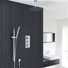 Fontana Liverpool Ceiling Mount Thermostatic Rainfall Shower Set System