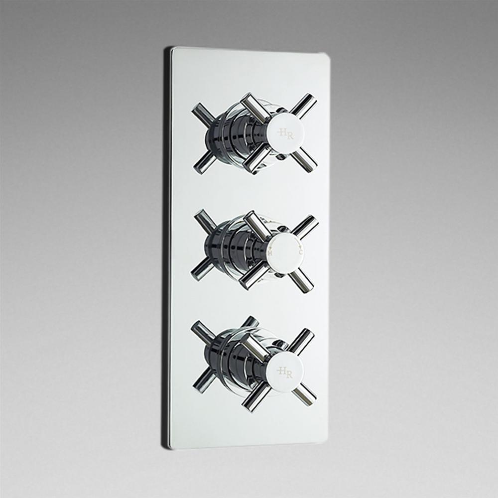 New 3 Outlet Concealed Thermostatic Triple Shower Faucet Valve Diverter