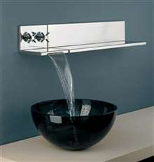 Fontana Chrome Wall Mounted Basin Faucet