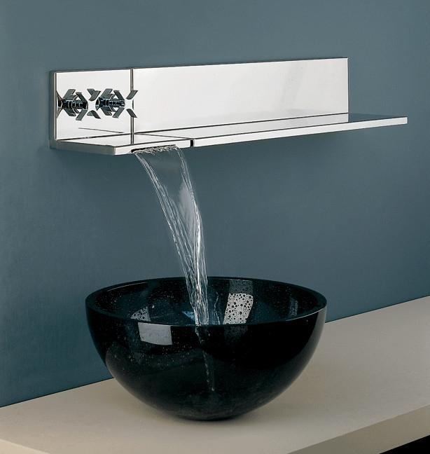 Wall Faucet Bathroom Kemistorbitalshowco - Bathroom vanity with wall mounted faucet