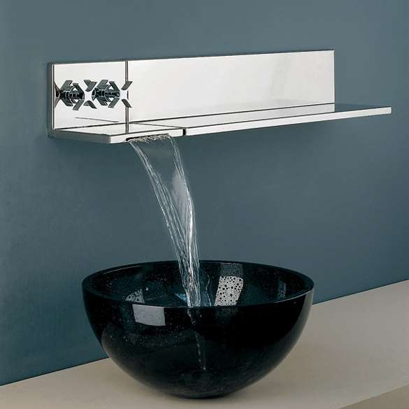 Fontana Chrome Wall Mount Sink Faucet