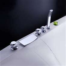 chrome polished waterfall bathroom faucet