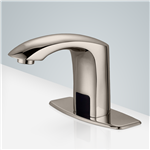 Fontana Contemporary Brushed Nickle Commercial Bathroom Sensor Faucet