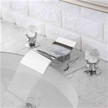 Fontana Santo Chrome Waterfall Bathroom Sink Faucet