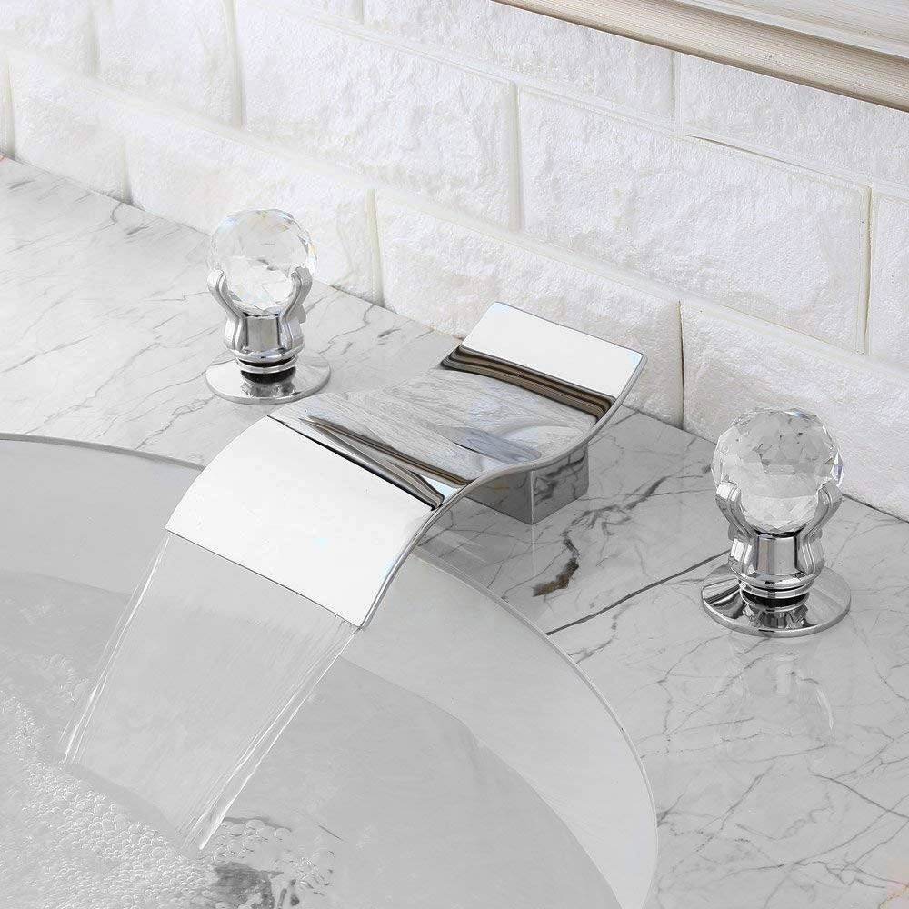48 Sale Fontana Santo Chrome Waterfall Bathroom Sink Faucet At Fontanashowers Com Waterfall Faucet Reviews