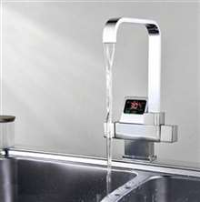 Digital Display Waterfall Faucet