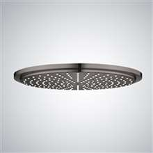 "Fontana 12"" Matte Black Round LED Rainfall Showerhead"