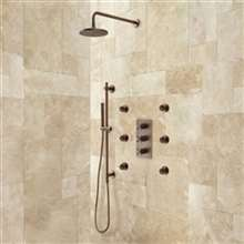 "8, 10, 12, 16, 20"" Oil Rubbed Bronze Shower Systems"