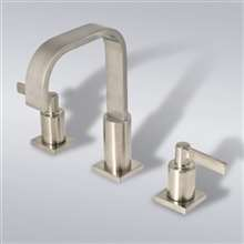 Dual Handle Stainless Steel Bathroom and Kitchen Sink Faucet