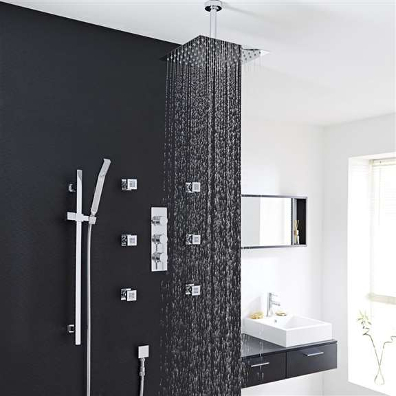 Brio Ultra-Thin Square Showerhead System