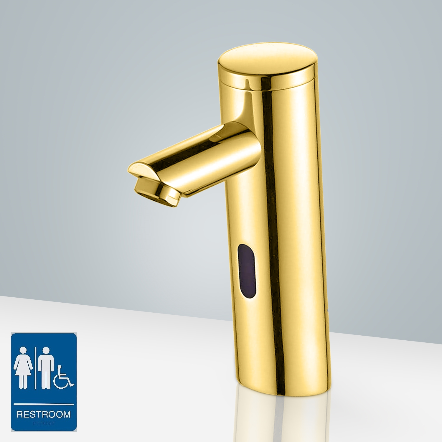 Gold Plated Bathroom Faucet Thermostatic Sensor Tap Solid Brass - Gold plated bathroom faucets