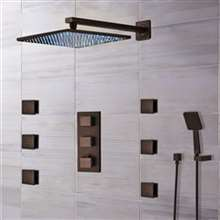 Sierra Oil Rubbed Bronze LED Shower System