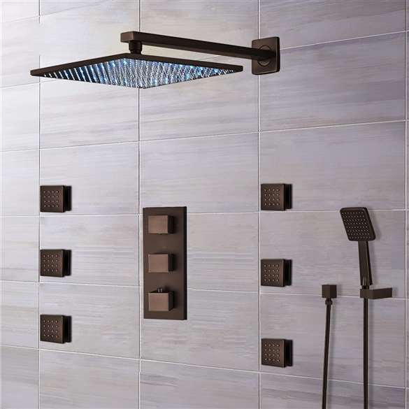 Fontana Sierra Light Oil Rubbed Bronze LED Shower System